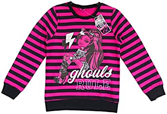 Girls Monster High Ghouls Rule Clawdeen Wolf Goth Halloween Sweatshirt Top from 4 to 14 Years