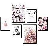 Heimlich® Premium Poster Set | Stilvolles Set mit passenden Bilder als Wohnzimmer Deko | 2 x DIN A3 & 4 x DIN A4 - ca. 30x40 & 20x30 | ohne Bilderrahmen » Coco «