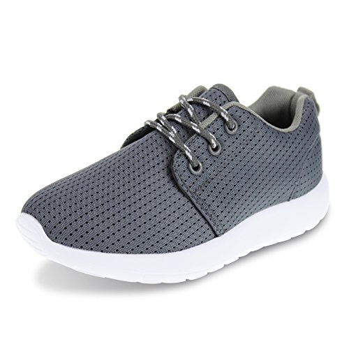 Hawkwell Chaussures de Sport Athlétisme Running Sneakers Mixte Enfant Gris