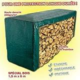 Provence Outillage 5105 Bâche verte 240 g/m 1,5 x 6 m