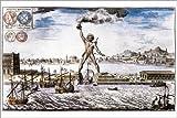 Poster 30 x 20 cm: Koloss von Rhodos von Johann Bernhard Fischer von Erlach/akg-Images - Hochwertiger Kunstdruck, Neues Kunstposter