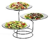 #10: Trueware Glass Serving Platter Set of 3, Standard