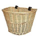 Tourbon vorne Lenkeradapter Wicker Fahrradkorb mit braunen Gurten Starke leicht - Basket #2