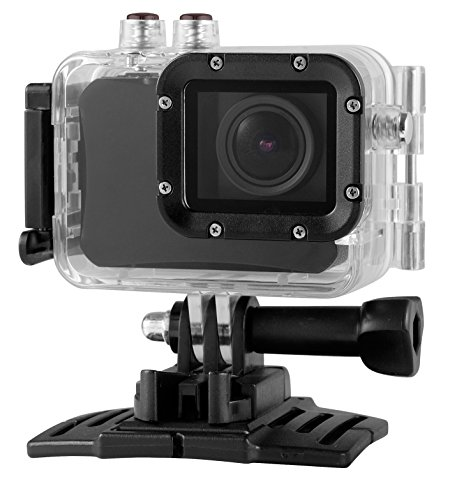 4K Ultra High Definition Desire2 See Dare HD Sport Action Camera Camcorder 16 mega pixel WiFi with SportCam App for Smart Phone Viewing Realtime Waterproof 20m Camera 150 Degree Wide View Angle 2 Inch LCD Screen Rechargeable Batteries Accessories Mount Pack - Black