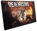 Bold Bloc Design - Dead Rising 4 XBOX ONE PS4 PC Gaming 135x90cm SINGLE Leinwand Kunstdruck Box gerahmte Bild Wand hangen - handgefertigt In Grossbritannien - gerahmt und bereit zum Aufhangen - Canvas Art Print