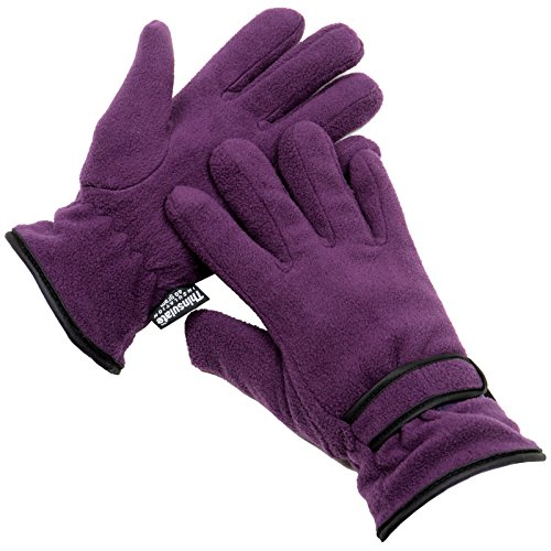ladies-thinsulate-insulation-winter-fleece-outdoor-gloves-one-size-purple