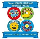 Spanish Award Stickers - 144 30mm Stickers - 90 10mm Stickers - 4 Designs - Rewards for Children