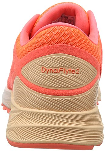Asics Damen Dynaflyte 2 Laufschuhe Orange (Flash Coral/white/apricot Ice 0601)