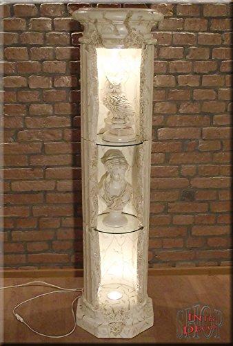 InterDecorShop Griechische Säule Säulenvitrine Säulenregal Bar Regal Rundregal Vitrine 158cm