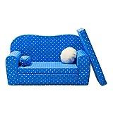 Gepetto Maxi Kindersofa blau ausklappbar plus extra Kissen - mit