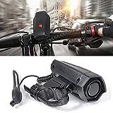 EMVANV Laut E-Bike Horn–110dB Lauter Sound für Fahrrad Sicherheit Reiten Fahrrad Radfahren Lenker Ring Alarm Glocken (Schwarz)