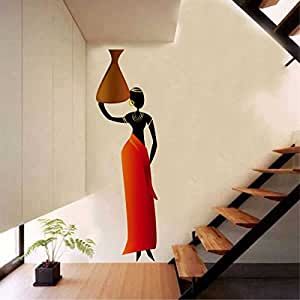 Rawpockets 'African Tribal Women' Wall Sticker (PVC Vinyl, 30 cm x 100cm)