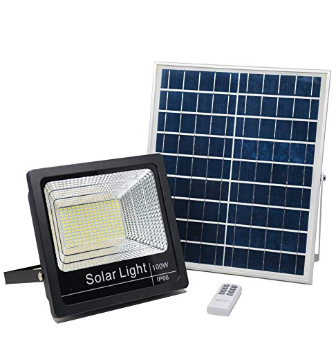 Luz Solar Exterior Mando a Distancia 100W