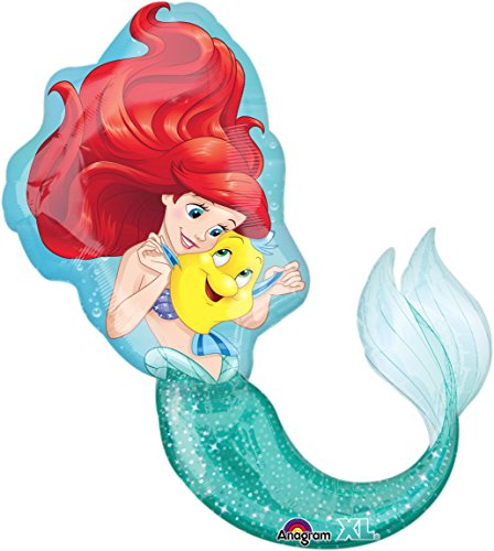 Kinder Fancy Fisch Dress Kostüm - Amscan 3352901 Folienballon SuperShape Little Mermaid