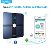 Lumsing Bluetooth Digital Body Fat Scales - Wireless Smartphone App Bathroom Weight Scale