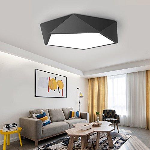 Beata.T Le camere da letto sono semplici e Soggiorno moderno Led personalità creative balcone lampade acrilico Lampade da soffitto, 52cm, White