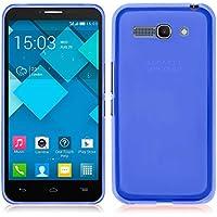 TBOC® Custodia Gel TPU Blu per Alcatel One Touch Pop
