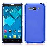 TBOC® Funda de Gel TPU Azul para Alcatel One Touch Pop C9 7047A 7047D de Silicona Ultrafina y Flexible