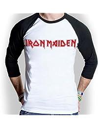 Iron Maiden Logo Baseball Style T-shirt Officiel Autorisé La Musique