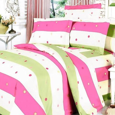 Blancho Bedding - [Colorful Life] 100% Algodón 7PC MEGA Fundas para Edredón (Extra grande)
