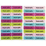 50 Etiquetas Adhesivas Personalizadas para marcar objetos, libros, fiambreras, etc. Medida 6 x 2 cm. Color 9