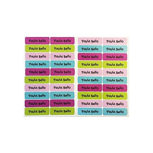 50 etichette adesive personalizzate per quaderni, libri e materiale scolastico. misura 6 x 2 cm. colore 9