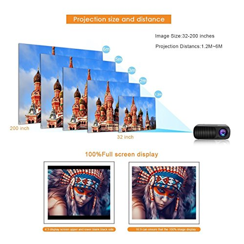ELEPHAS EB-X6 Multimedia LED Projector - Black