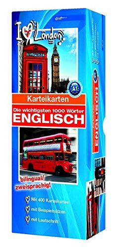 Karteikarten - Die wichtigsten 1000 Wörter, Englisch: Niveau A1 bilingual / zweisprachig