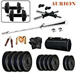 #5: Aurion Home Gym 25 KG Home gym & Fitness Kit With Combo Offer