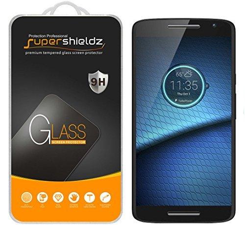 [2er Pack] Supershieldz für Motorola Droid Maxx 5,1cm gehärtetem Glas Displayschutzfolie, Kratzschutz, Anti-Fingerprint, lebenslange Umtausch-Garantie