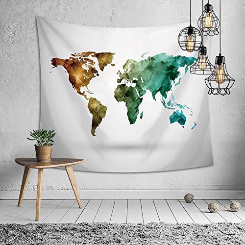 Jessiekervin yy3 arazzo mappa del mondo in poliestere tessuto da appendere al muro interno muro bandiera stuoia da spiaggia tavolo croce poster in tessuto camera dei bambini baby room camera dei bambi