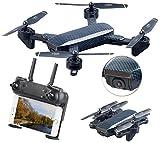 Simulus Drohnen: Faltbarer WiFi-FPV-Quadrocopter, HD-Cam und VGA-Cam, Optical Flow, App (Faltbare Drohne)