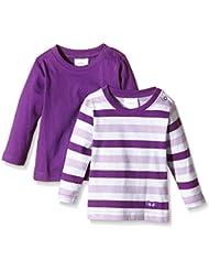 Twins 1x Uni / 1 X Blockstreifen - Camiseta de manga larga Bebé-Niños