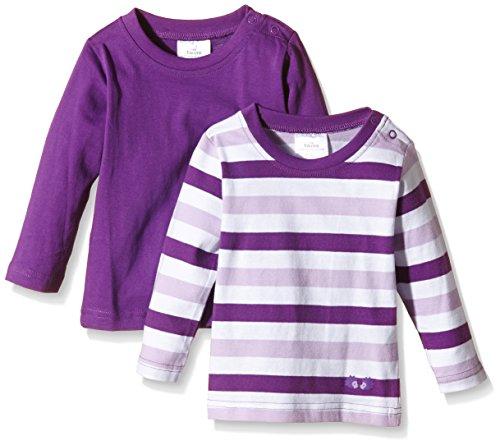Twins Baby - Mädchen Langarmshirt im 2er Pack, Gr. 56, Violett (Amaranth Purple 193536)