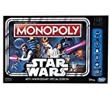 Hasbro Monopoly Game: Star Wars 40Th Anniversary Special Edition Simulación económica Niños y adultos - Juego de tablero (Simulación económica, Niños y adultos, Niño/niña, 8 año(s), 99 año(s), Inglés)