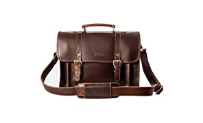 Leather Satchel Bag For 13 inch Laptop The Classic By Niche Lane