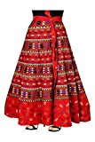 Mayuri Cotton Women's Pure Cotton Wrap Around Skirt,KGST_126_Red_Freesize