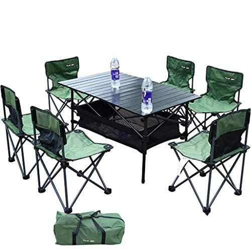 Table pliante Leqi Outdoor Table Pliante Et Ensemble De Chaises 4 Personnes Multi-person Table Pliante Et Chaises Barbecue Camping Auto-conduite Table Et Chaises Set Table Et Chaises Ensemble De 7 Tab