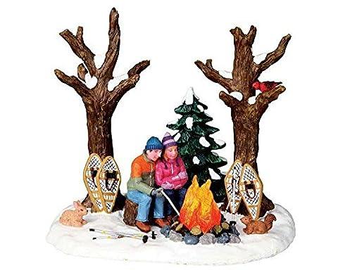 Lemax - Stying Warm - Beleuchtetes Lagerfeuer - 4,5V - Weihnachtsdorf Zubehör