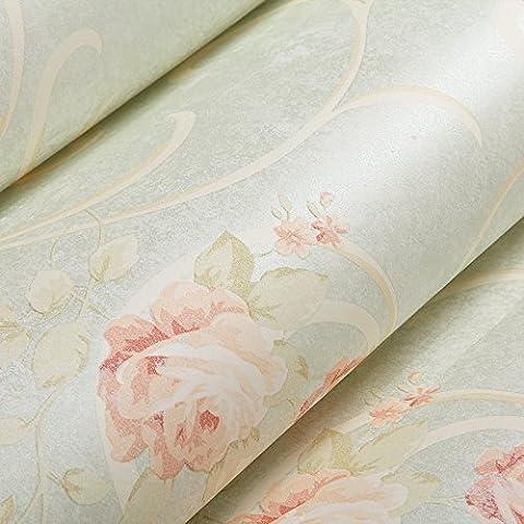 VanMe Land-Art Wohnzimmer-Tapete-Schlafzimmer-Warme Romantische Blumentapete Retro Amerikanisches Dorf