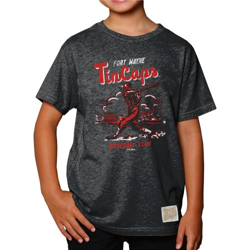 Minor League Baseball Jungen T-Shirt, Heather Black, xl