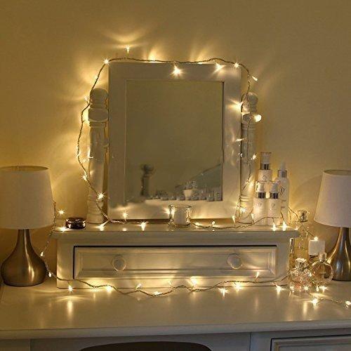 Uping Guirnalda luminosa decorativa de 100 LED 12 m Cadena de luces Blanco cálido con Clavija de UK Transformador integrado de baja tensión DC 31V Perfecto para Navidad Fiestas Bodas Jardín Uso exterior e interior