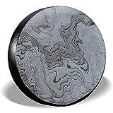 N/A Coperture per Pneumatici in Marmo Modello Copriruota di Ricambio Ecologico Portatile Impermeabile Universale da 16 Pollici