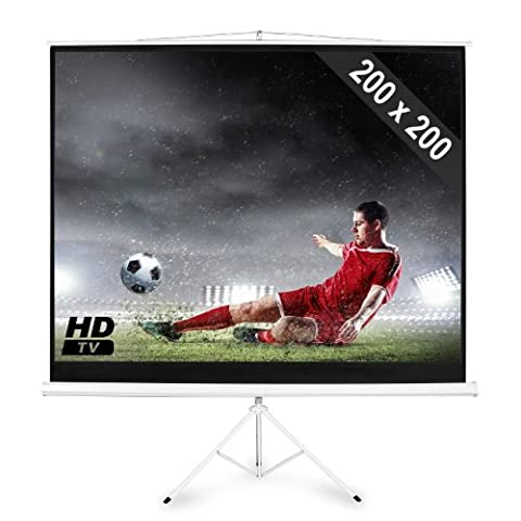 FrontStage Home Cinema Projector Screen with Tripod 200x200cm