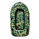 Kayak gonfiabile all'aperto Gommone da Passeggio Confortevole Kayak Per Il Tempo Libero Barca Pieghevole 1-3 Persone Gommone Sport Marino Pesca Avventura PVC Spesso Plastica 230 * 125cm Camouflage Gre
