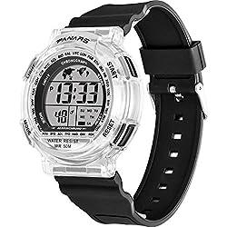 Webla - Panars Smart Watch, Montre Électronico Fashionable Sports, Montre de Natation Étanche 50 Mètres, Calendrier, Plastique Abs (Noir) (Bk)