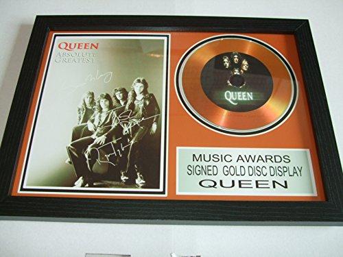 gold disc frames Queen firmato disco d' oro