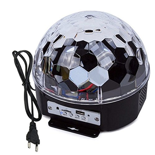 Mini Disco DJ Stage Licht 3W LED RGB Bluetooth Kristall Magic drehbar Glitter Kugel Beleuchtung Effekt für KTV Xmas Party Hochzeit Zeigen Club Pub Farbwechsel Beleuchtung Stroboskoplicht (Schwarz Schritt-zylinder)