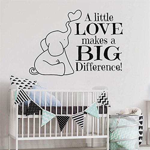 Stickers Muraux Inspiring Phrases Home Art Decor Decal Mural A Little Love Makes A Big Difference For enfants Kids Room