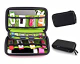Pawaca Travel Electronics Accessories Organizer - Universal Multi-function Portable Shockproof Waterproof Storage Bag for Cable, USB Flash Drive, External Hard Drive, Memory Card, Earphone and More